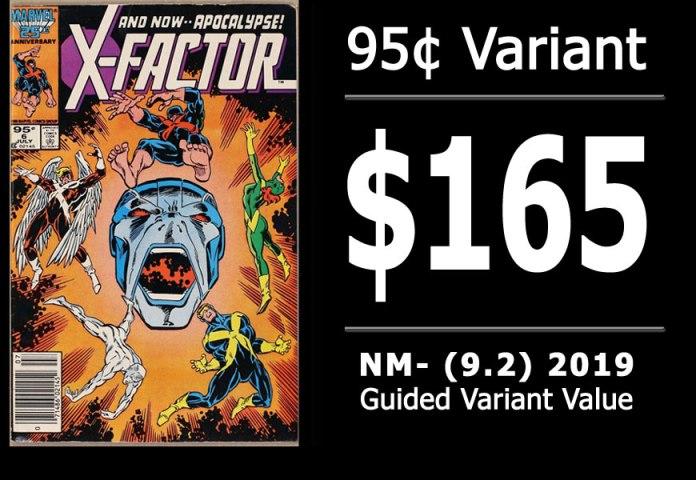 #9: X-Factor #6, 2019 NM- Variant Value = $165