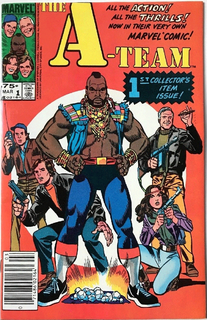 A-Team #1, Type 1A 75¢ Cover Price Variant; Canadian Newsstand