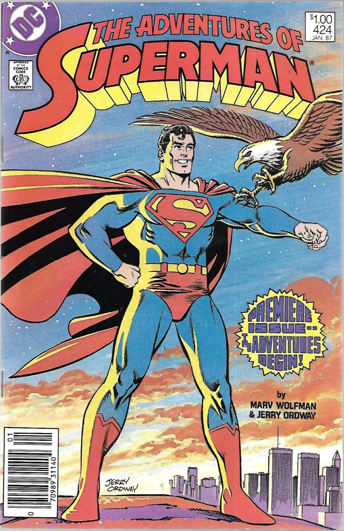 Adventures of Superman #424, Type 1A $1.00 Cover Price Variant; Canadian Newsstand