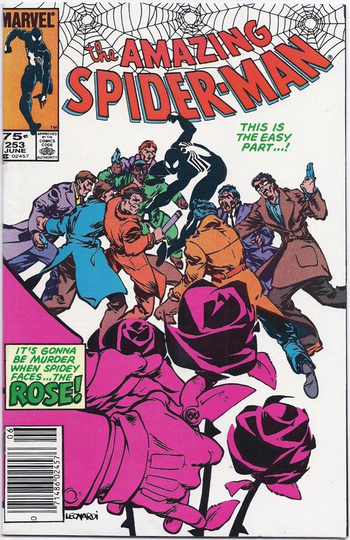 Amazing Spider-Man #253, Type 1A 75¢ Cover Price Variant; Canadian Newsstand
