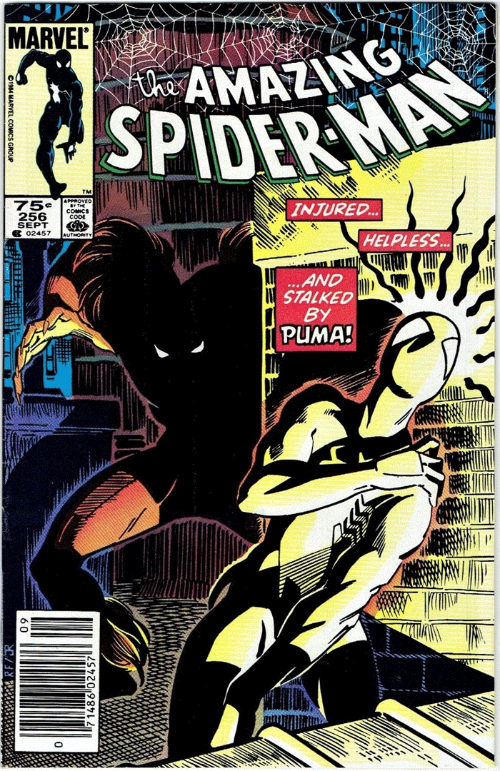 Amazing Spider-Man #256, Type 1A 75¢ Cover Price Variant; Canadian Newsstand
