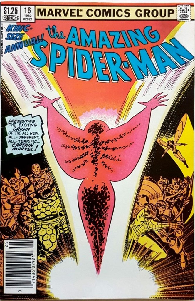 Amazing Spider-Man Annual #16, Type 1A $1.25 Cover Price Variant; Canadian Newsstand