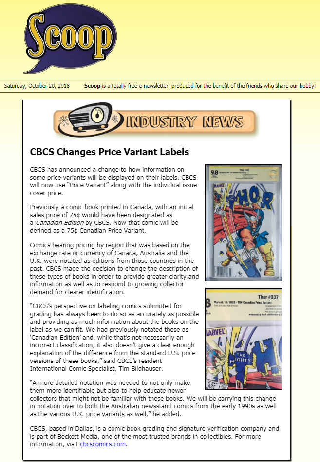 CBCS Changes Price Variant Labels