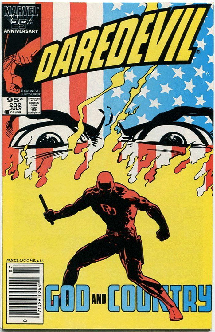 Daredevil #232, Type 1A 95¢ Cover Price Variant; Canadian Newsstand