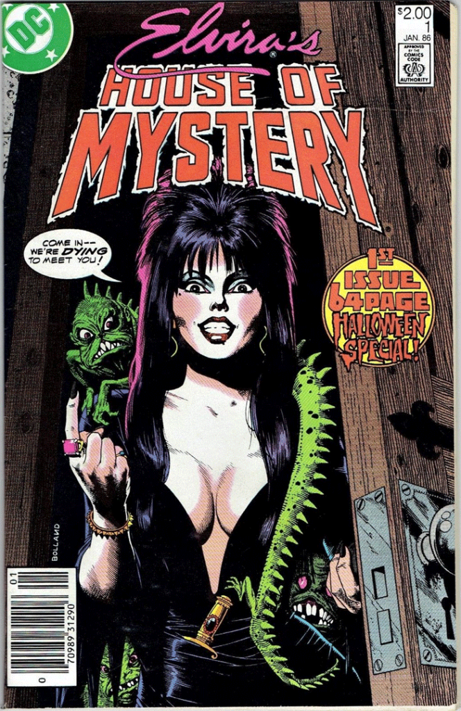 Elvira's House of Mystery #1, Type 1A $2.00 Cover Price Variant; Canadian Newsstand