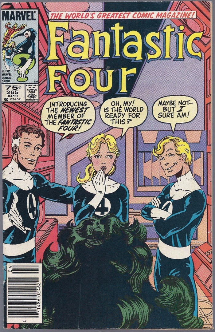 Fantastic Four #265, Type 1A 75¢ Cover Price Variant; Canadian Newsstand