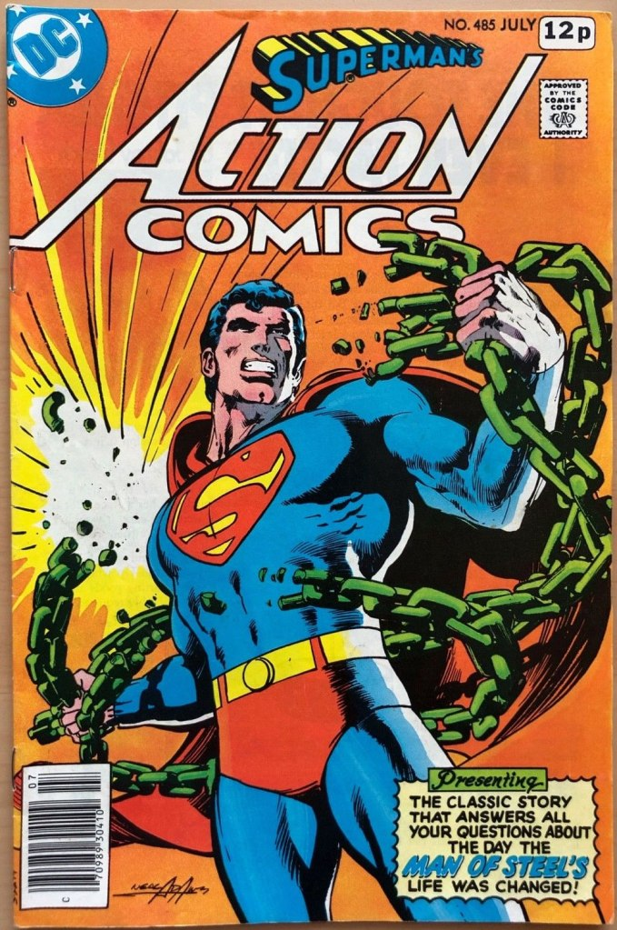 Action Comics #485, 12p Pence Price Variant
