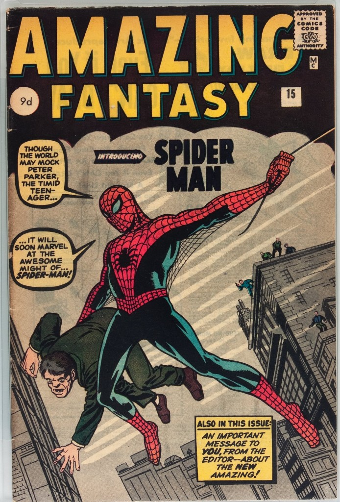 Amazing Fantasy #15, 9d Pence Price Variant