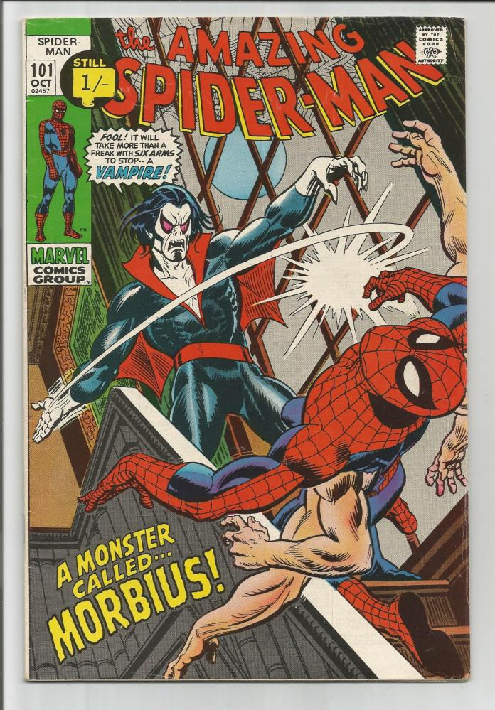 Amazing Spider-Man #101, 1/- Pence Price Variant