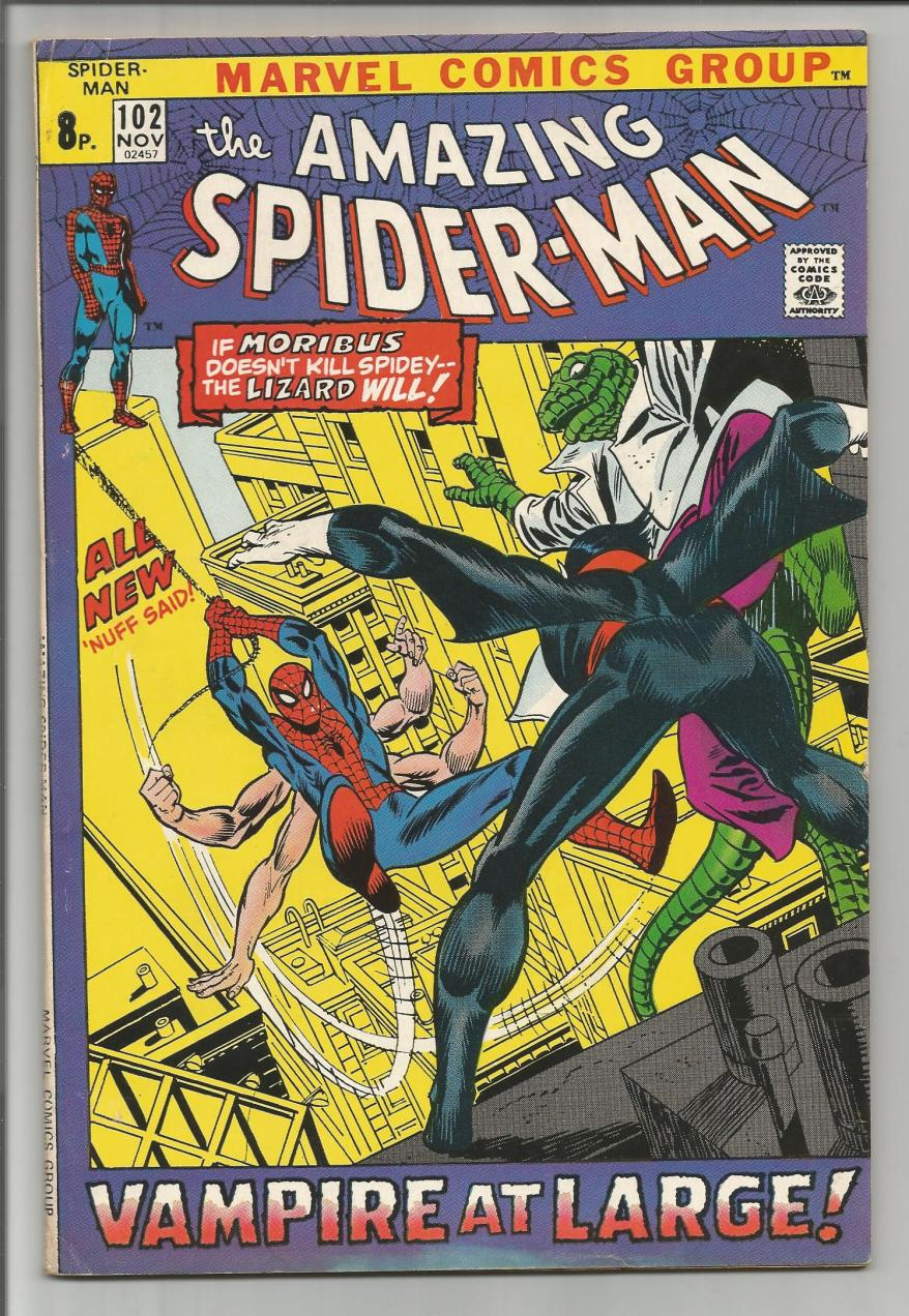 Amazing Spider-Man #102, 8p Pence Price Variant