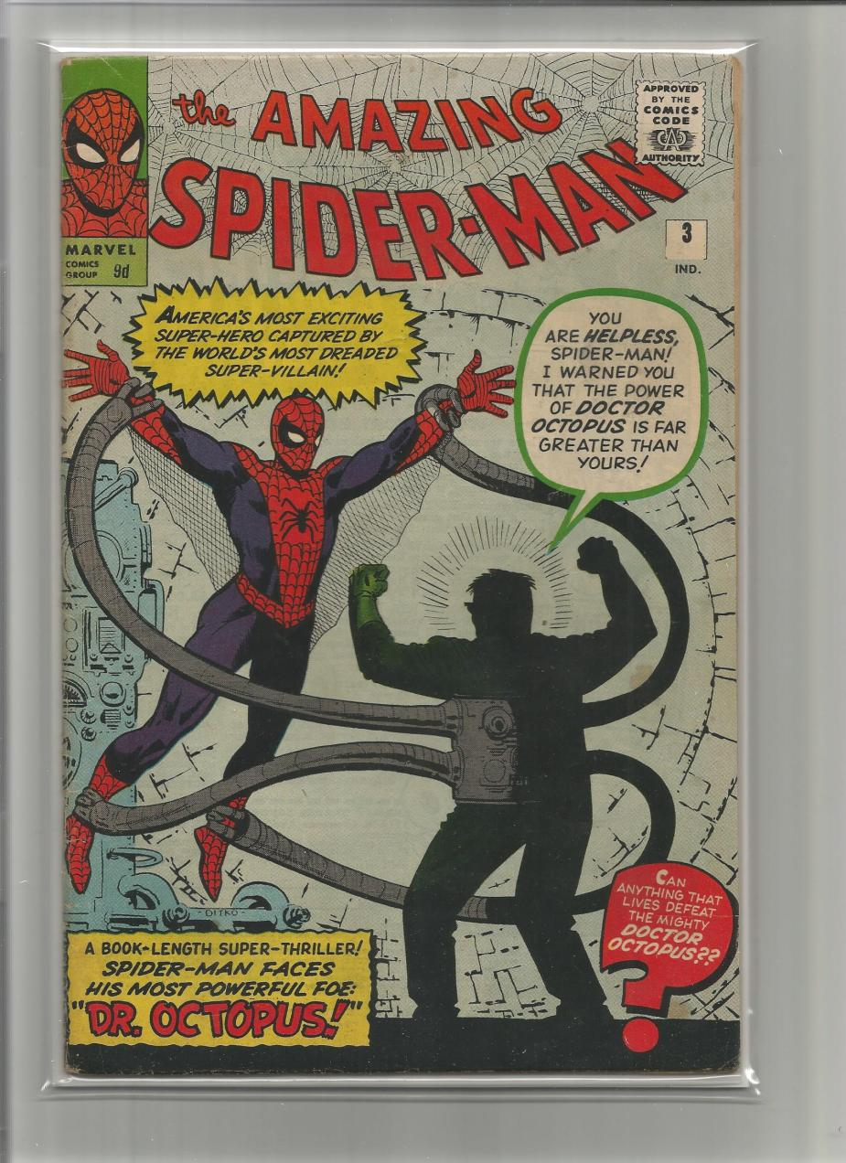 Amazing Spider-Man #3, 9d Pence Price Variant