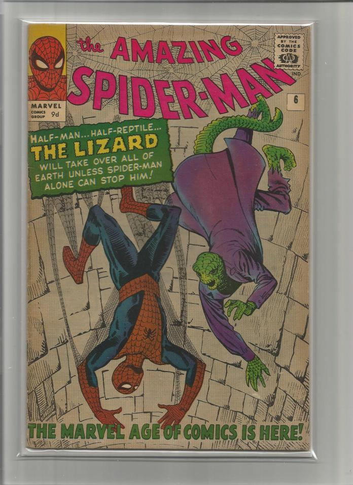 Amazing Spider-Man #6, 9d Pence Price Variant