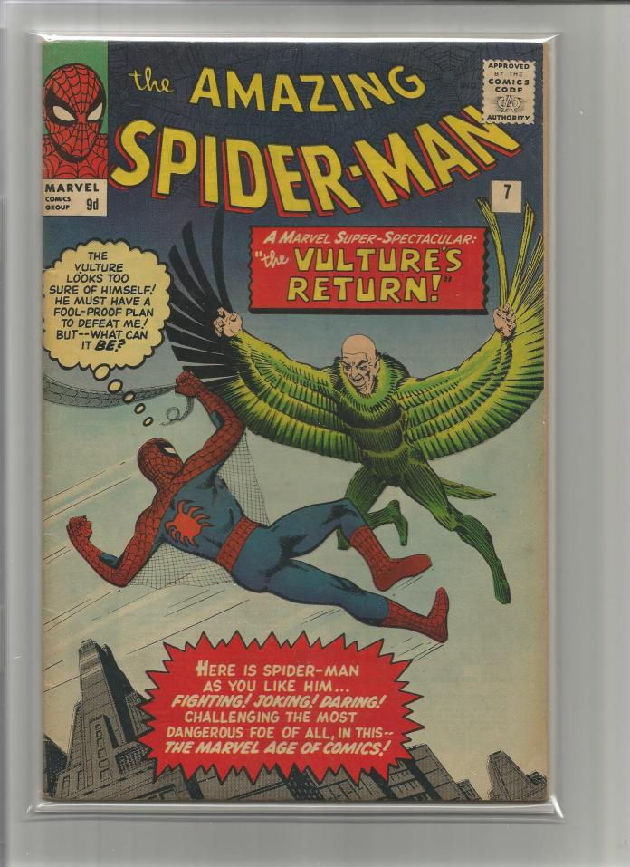Amazing Spider-Man #7, 9d Pence Price Variant