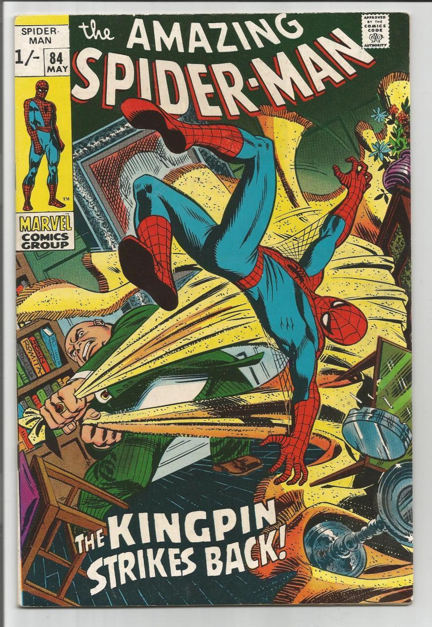 Amazing Spider-Man #84, 1/- Pence Price Variant