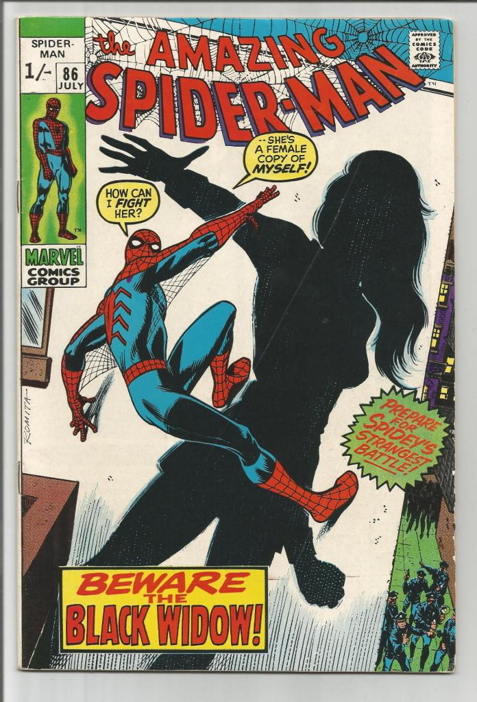 Amazing Spider-Man #86, 1/- Pence Price Variant