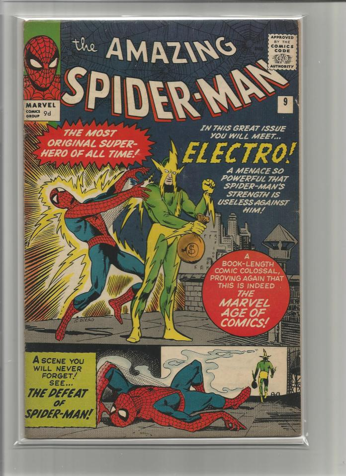 Amazing Spider-Man #9, 9d Pence Price Variant