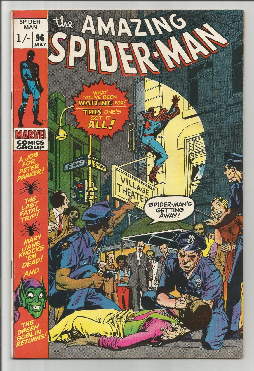 Amazing Spider-Man #96, 1/- Pence Price Variant