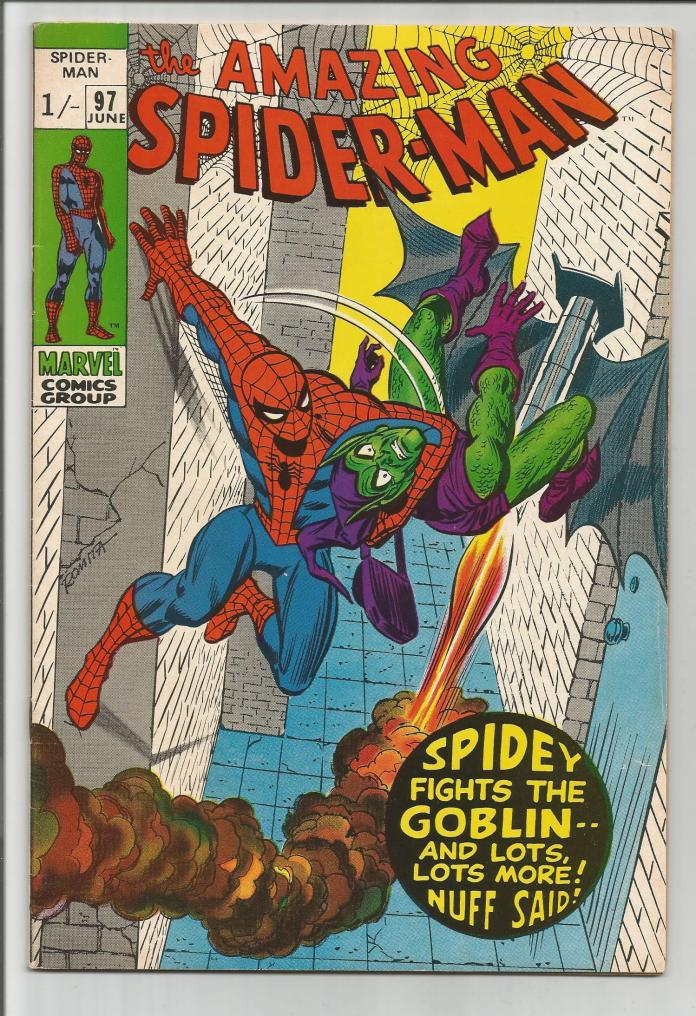 Amazing Spider-Man #97, 1/- Pence Price Variant