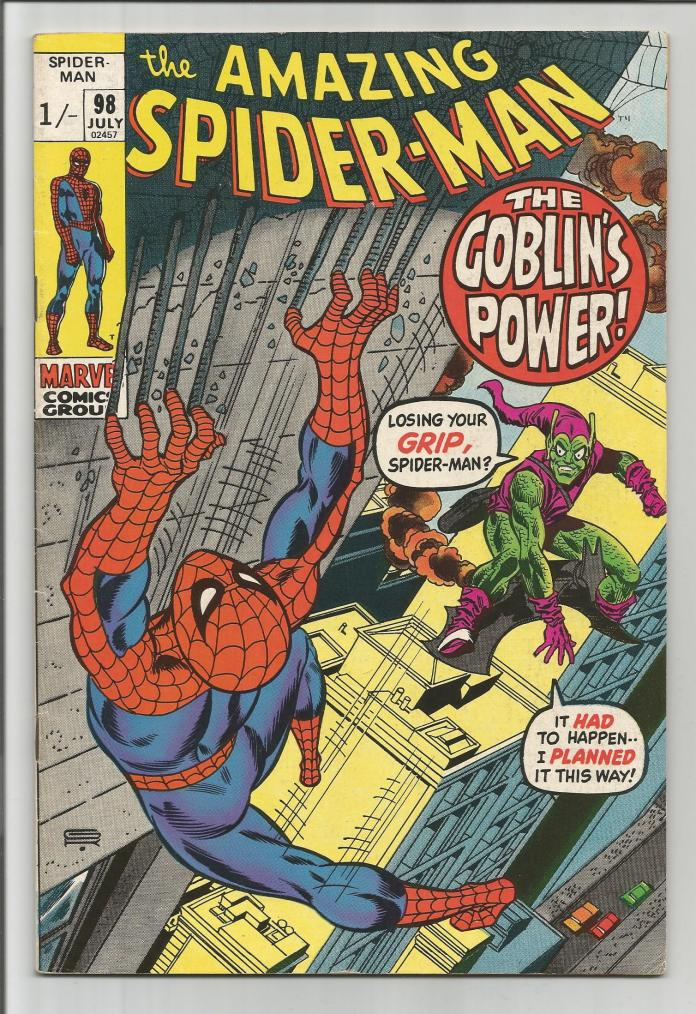 Amazing Spider-Man #98, 1/- Pence Price Variant