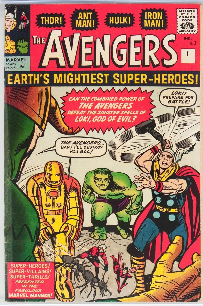 Avengers #1, 9d Pence Price Variant
