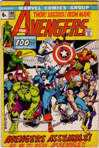 Avengers #100 Pence Price Variant