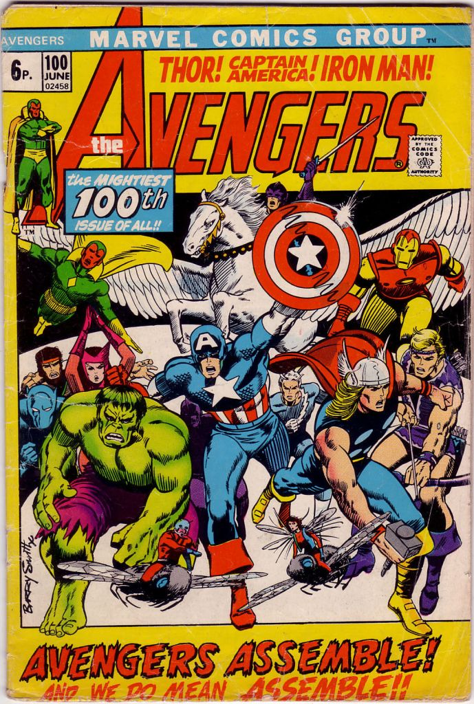 Avengers #100, 6p Pence Price Variant