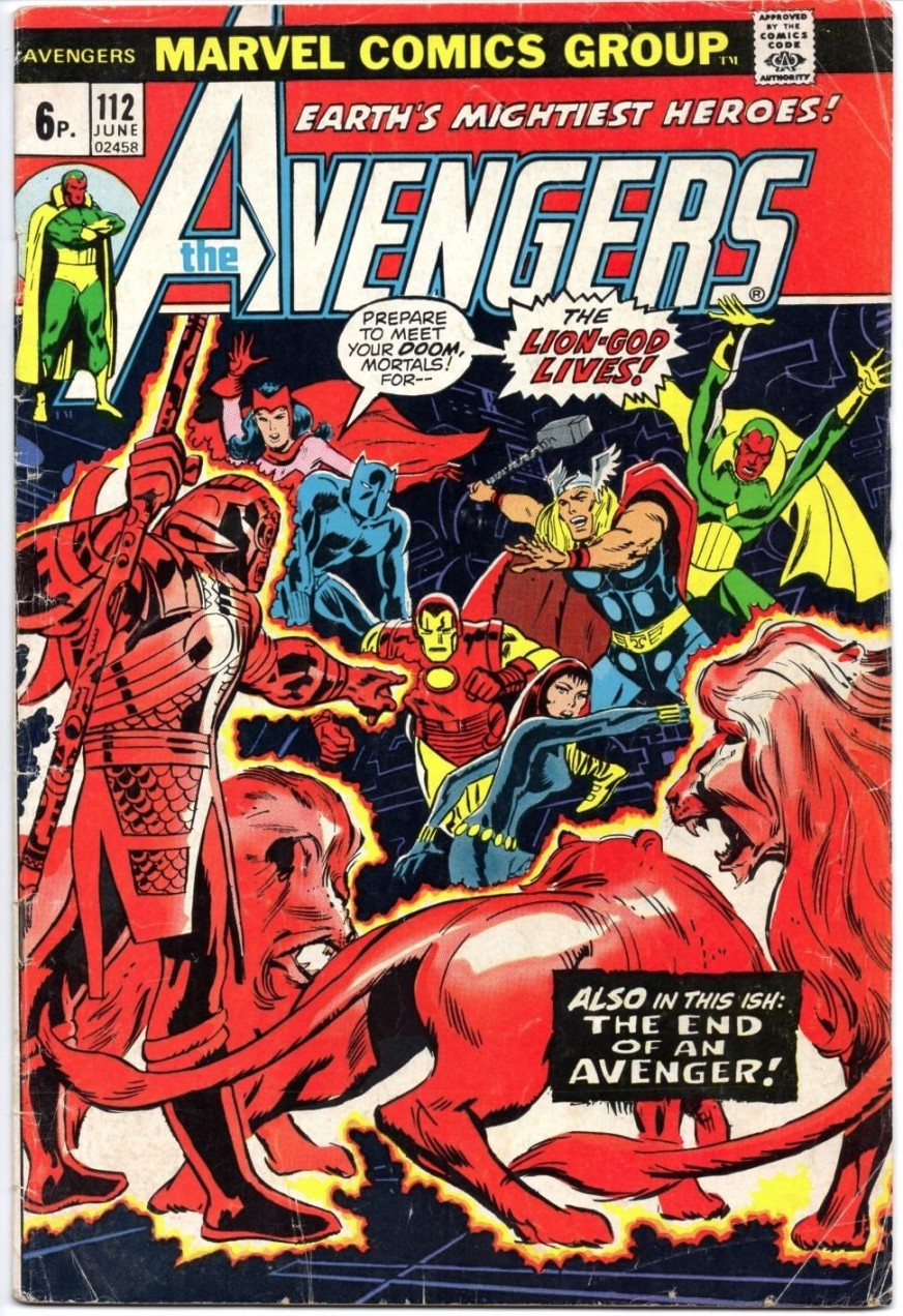 Avengers #112, 6p Pence Price Variant