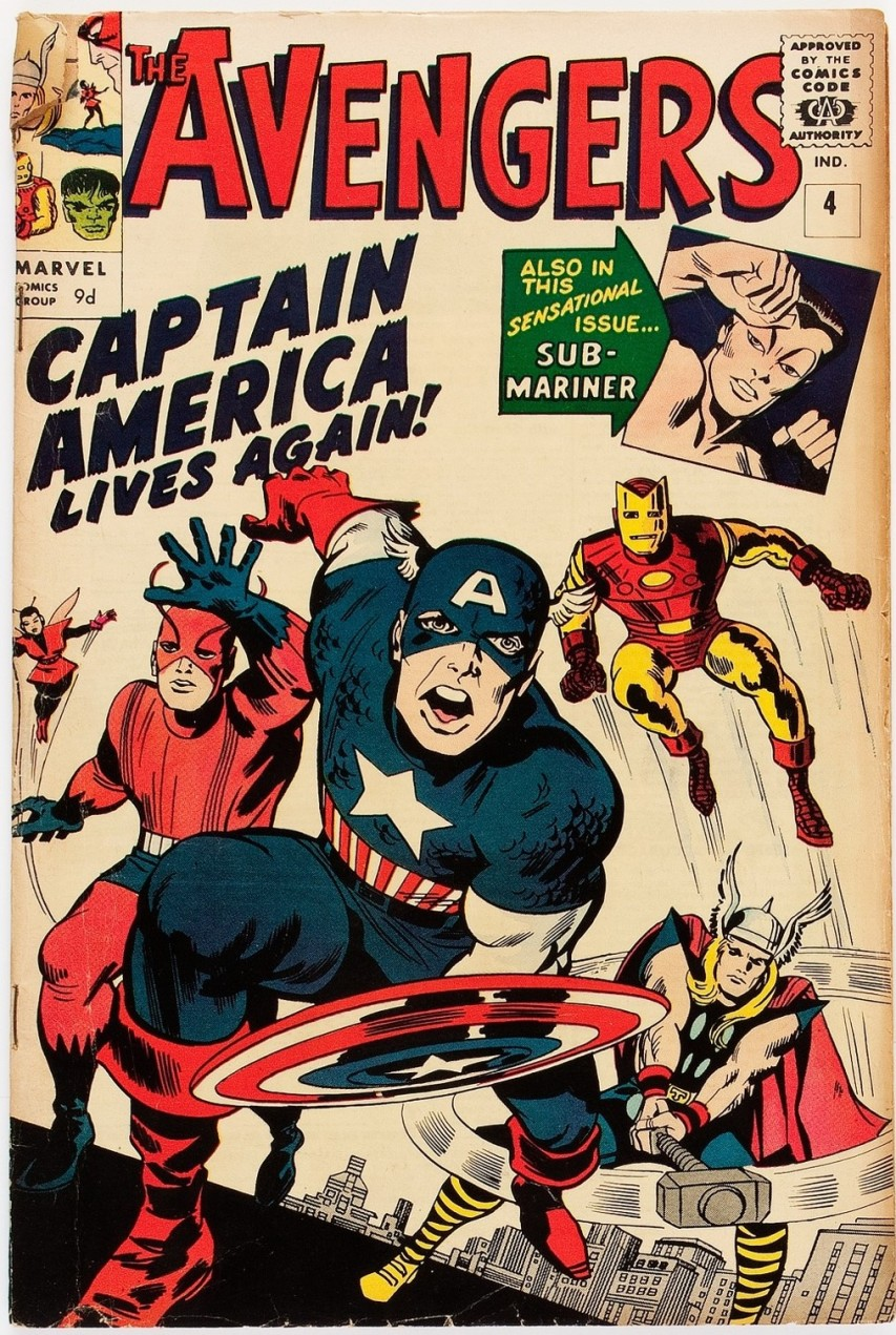 Avengers #4, 9d Pence Price Variant