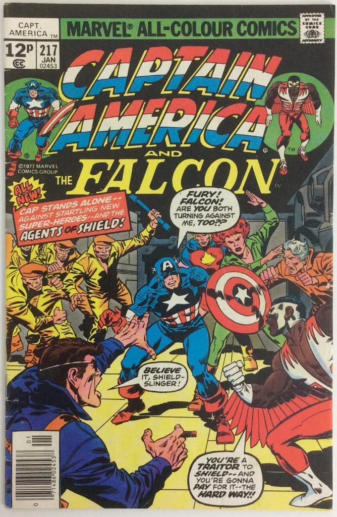 Captain America #217, 12p Pence Price Variant