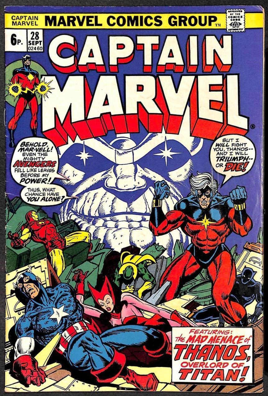 Captain Marvel #28, 6p Pence Price Variant