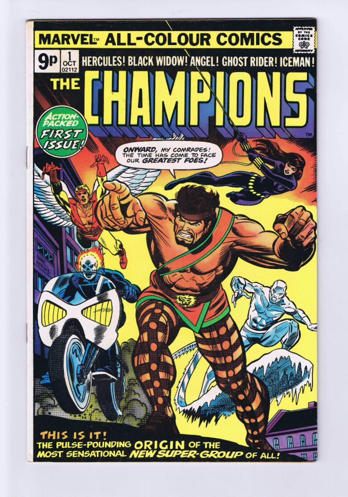 Champions #1, 9p Pence Price Variant