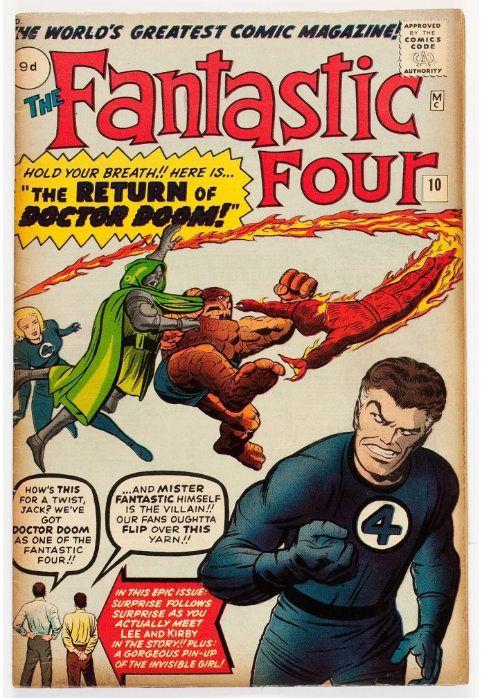 Fantastic Four #10, 9d Pence Price Variant