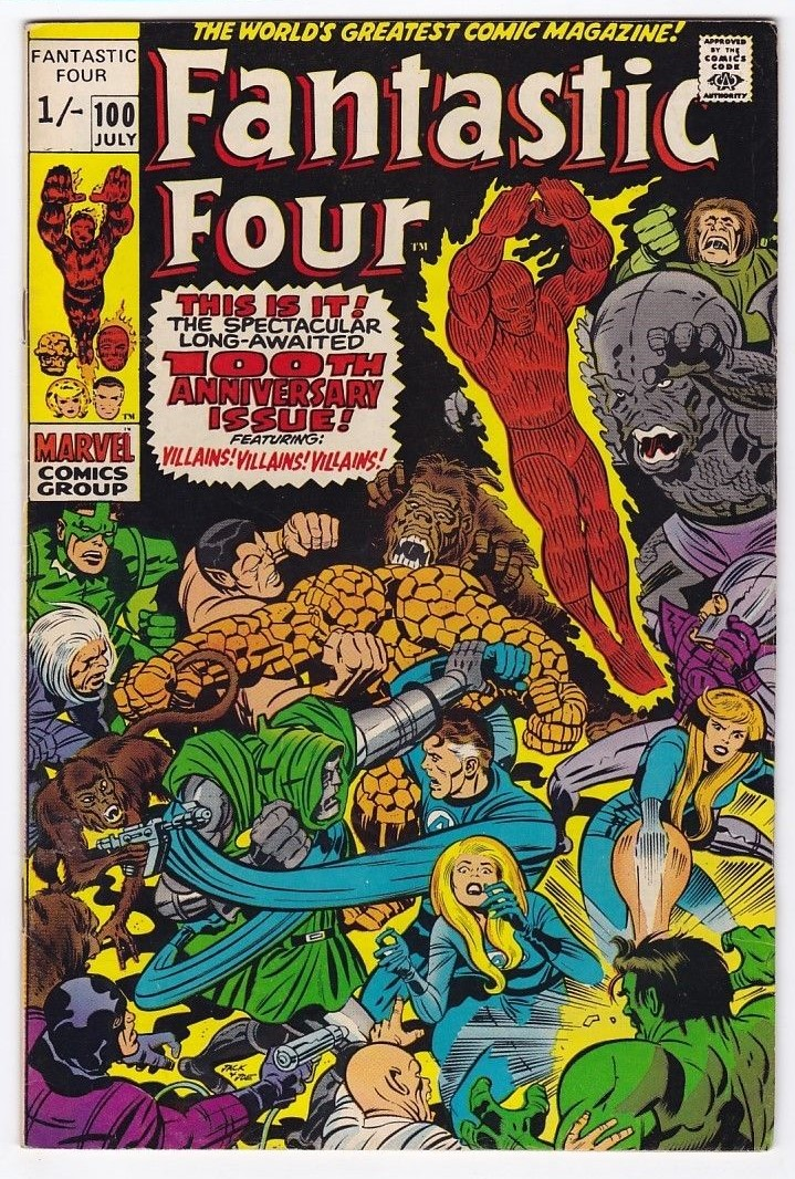 Fantastic Four #100, 1/- Pence Price Variant