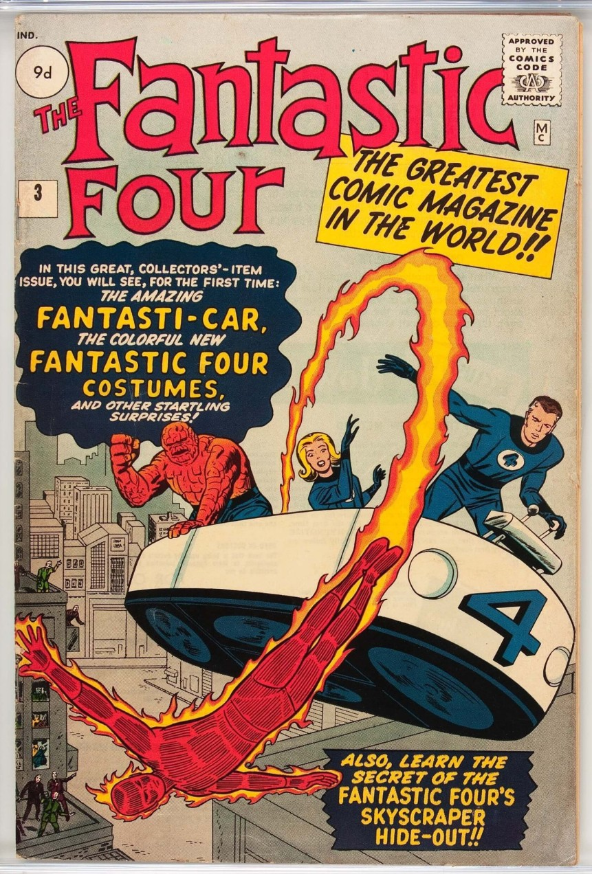 Fantastic Four #3, 9d Pence Price Variant