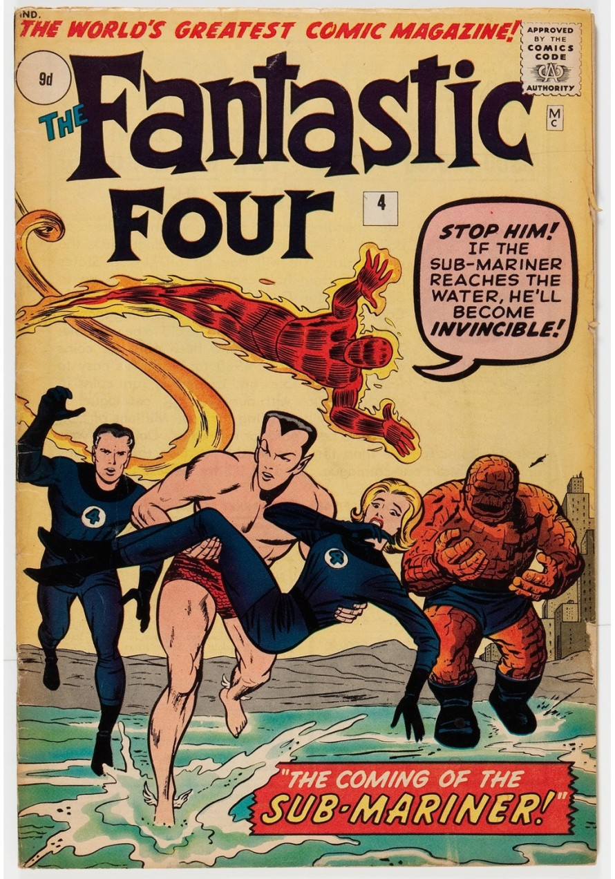Fantastic Four #4, 9d Pence Price Variant