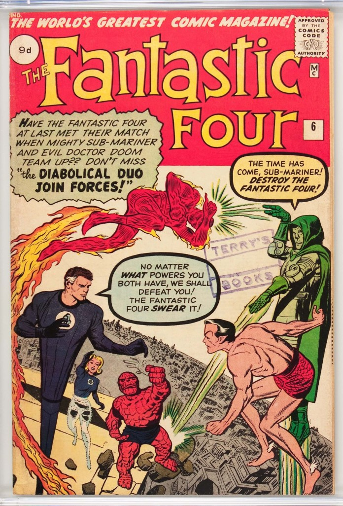 Fantastic Four #6, 9d Pence Price Variant
