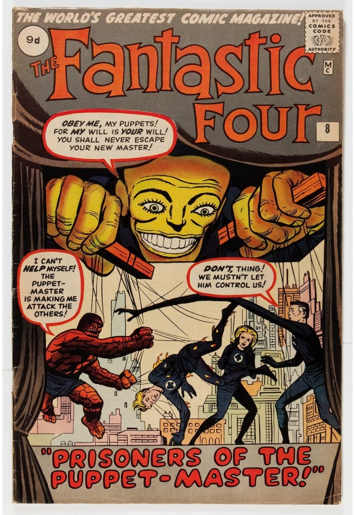 Fantastic Four #8, 9d Pence Price Variant