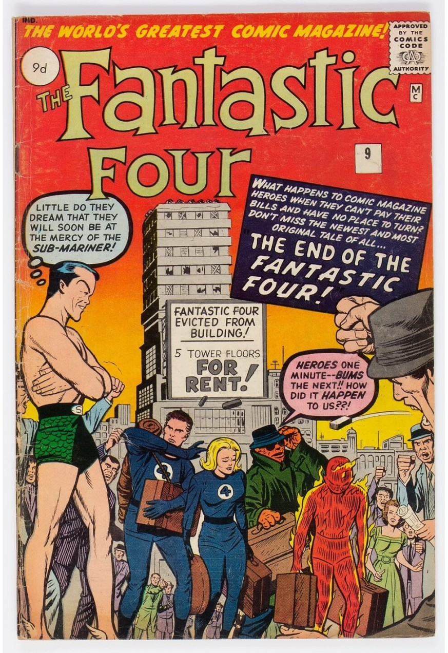 Fantastic Four #9, 9d Pence Price Variant