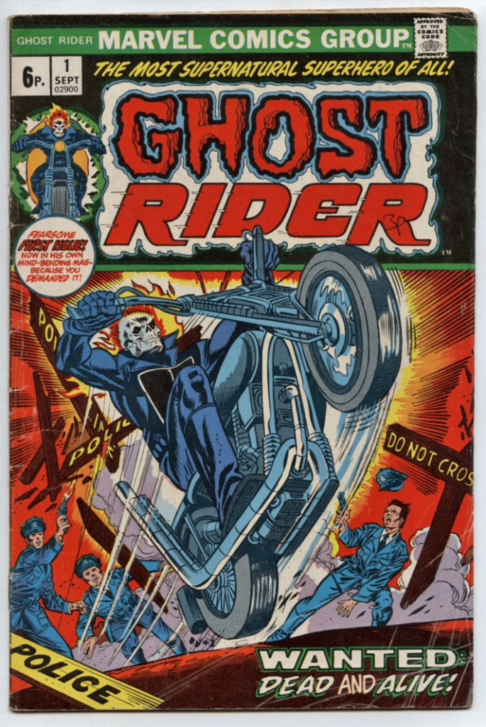 Ghost Rider #1, 6p Pence Price Variant