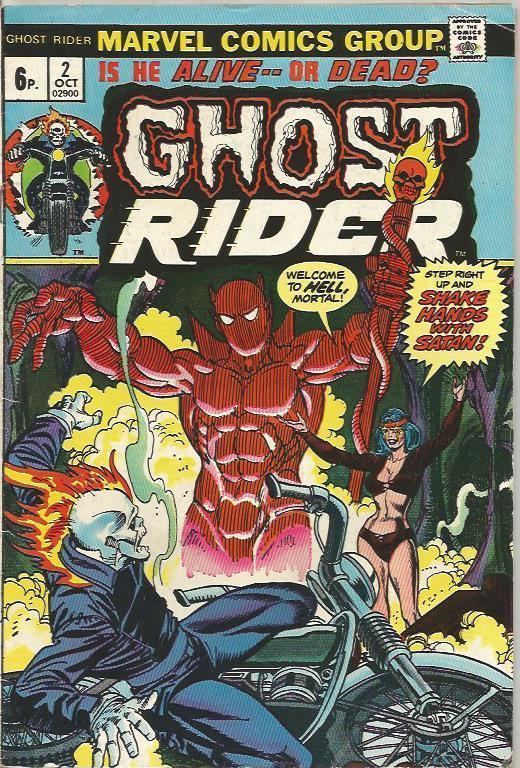 Ghost Rider #2, 6p Pence Price Variant