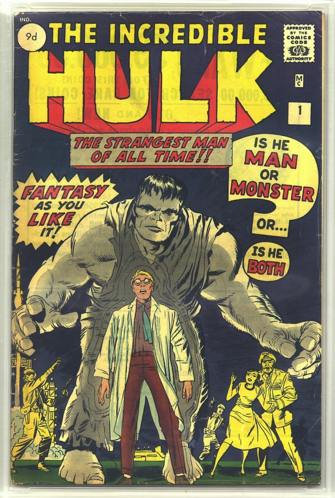 Incredible Hulk #1, 9d Pence Price Variant