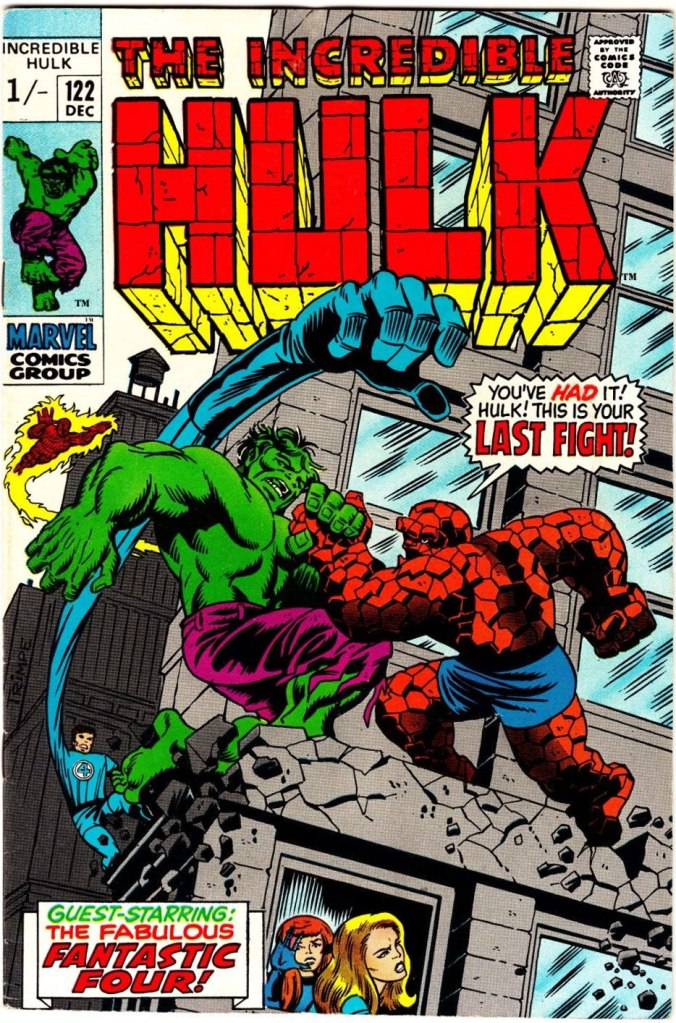 Incredible Hulk #122, 1/- Pence Price Variant