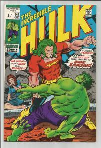 Incredible Hulk #141 Pence Price Variant