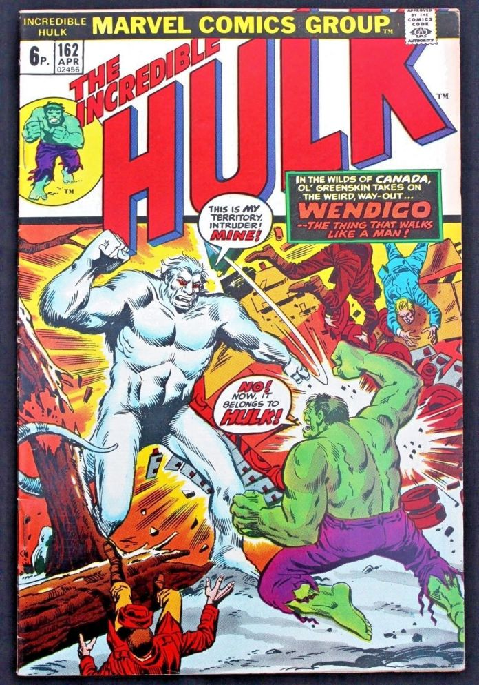 Incredible Hulk #162, 6p Pence Price Variant