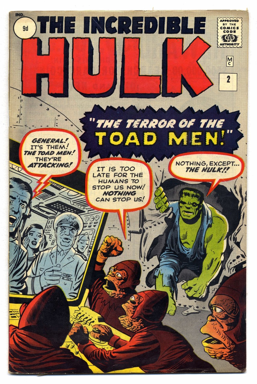 Incredible Hulk #2, 9d Pence Price Variant