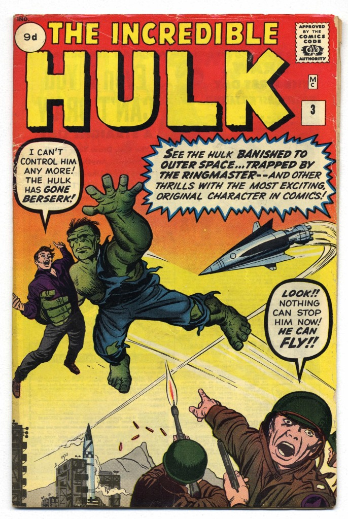 Incredible Hulk #3, 9d Pence Price Variant