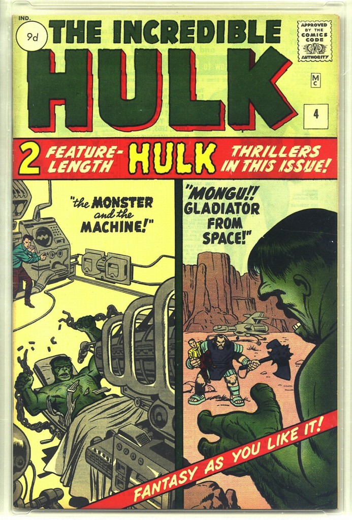Incredible Hulk #4, 9d Pence Price Variant