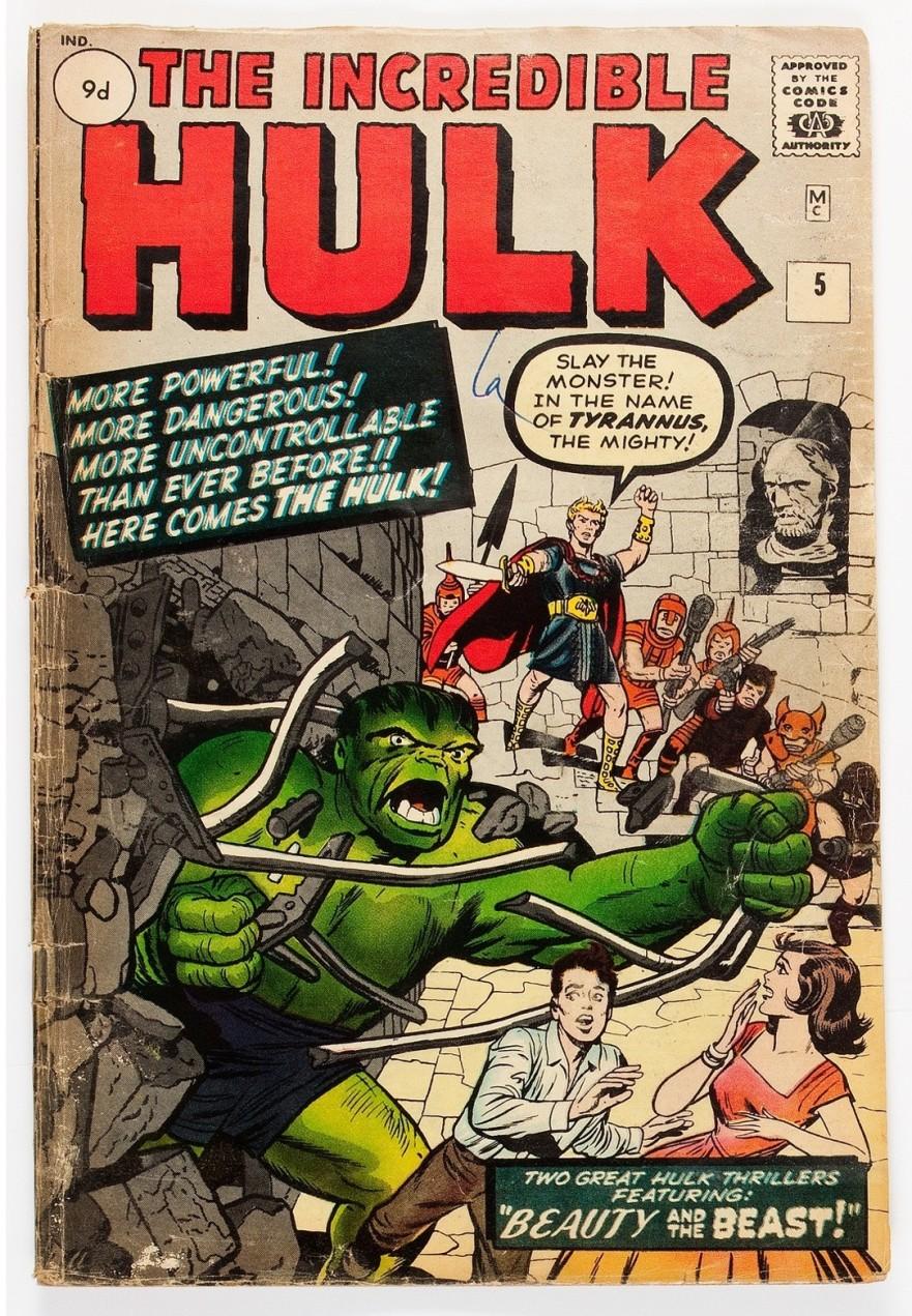 Incredible Hulk #5, 9d Pence Price Variant
