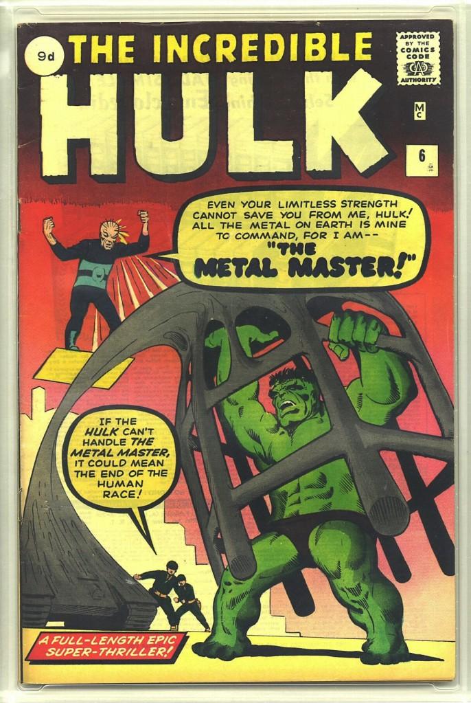 Incredible Hulk #6, 9d Pence Price Variant
