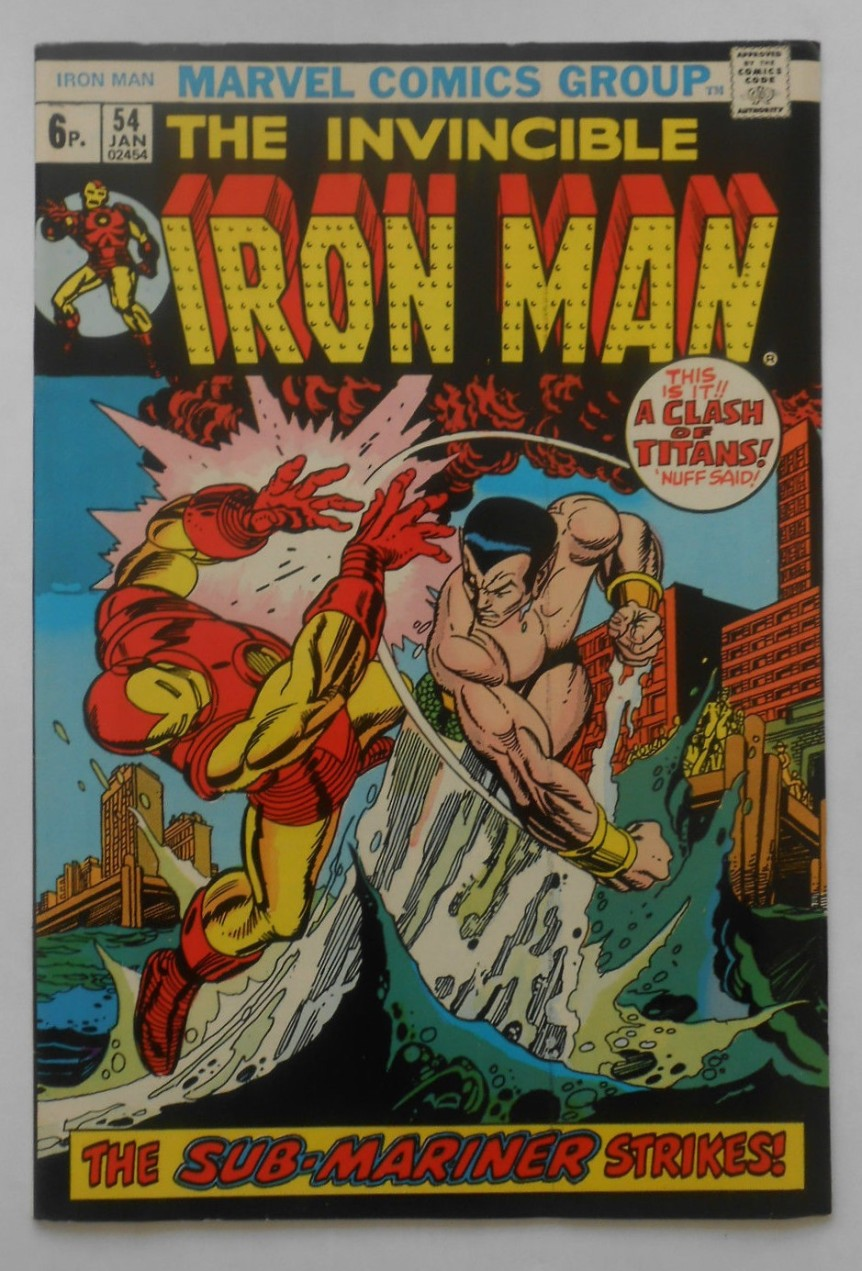 Iron Man #54, 6p Pence Price Variant